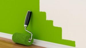 pintar local comercial - brocha verde