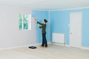 pintar piso en Valencia - habitación azul