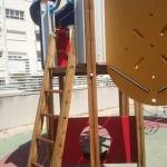 Restauración parque infantil comunidad