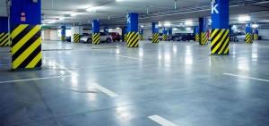 limpieza de garajes en Valencia - parking azul