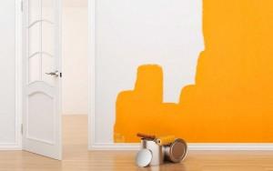 pintar piso en Valencia - habitación naranja