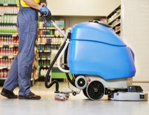 limpieza de comercios en Valencia - maquina