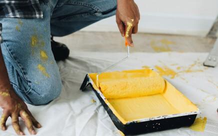 pintor económico en Valencia - Amarillo