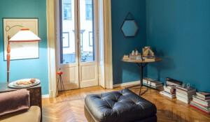 pintar piso en Valencia - comedor azul