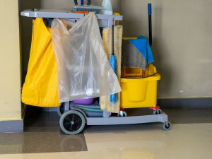 limpieza de garajes valencia - carrito para limpiar-
